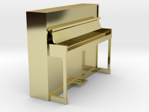 Miniature 1:24 Upright Piano in 18K Gold Plated