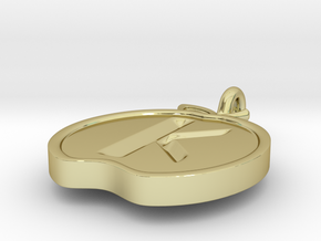 Pendant of the Golden Apple - Kappa in 18K Gold Plated