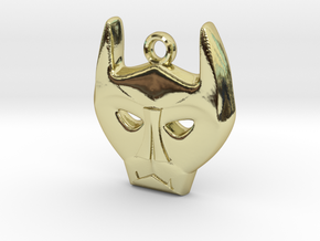 Bat Mask Charm in 18K Gold Plated