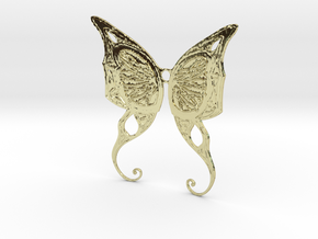 Butterfly Wings Pendant in 18K Gold Plated