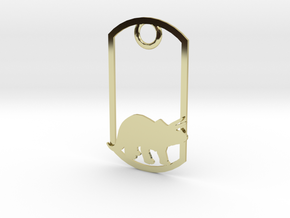 Triceratops dog tag in 18K Gold Plated