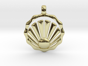 SHELL Symbol Minimal Jewelry Pendant in 18K Gold Plated