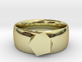 squashed crystal ring in 18K Gold Plated