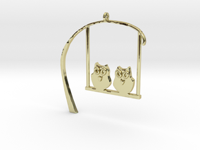 Owl Pendant in 18K Gold Plated
