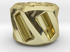 Twisted Hex Bead 1: Tritium (Pandora Thread) in 18K Gold Plated