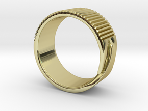 Rift Ring - EU Size 58 in 18K Gold Plated