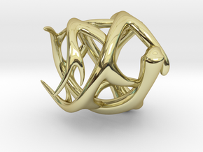 Antler Ring - Size 7(UPDATED) in 18K Gold Plated