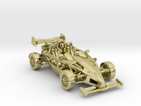 "Atom HO scale model w/wings 1.7"" RHD in 18K Gold Plated"