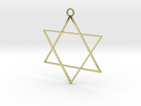 Six Point Star in 18K Gold Plated