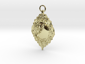 Phoenix Rising Pendant in 18K Gold Plated