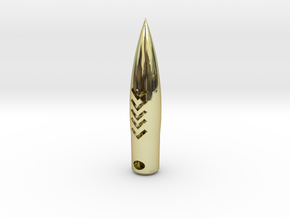 50 Caliber  Hogs-tooth Pendant Round in Premium Me in 18K Gold Plated