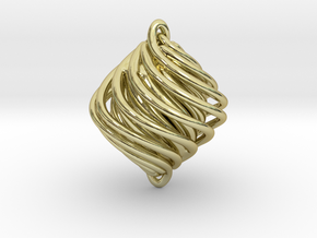 Twist Pendant in 18K Gold Plated