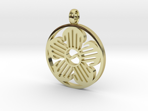 Immortal Flower Pendant in 18K Gold Plated