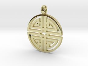 Longevity Pendant in 18K Gold Plated