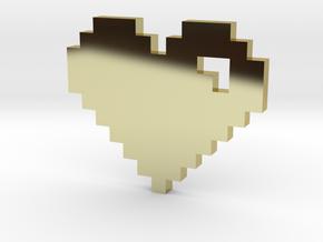 8 Bit Heart (Pixel Heart) in 18K Gold Plated