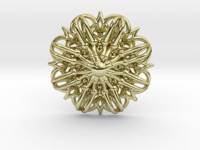 Mandala Stardust Pendant  in 18K Gold Plated