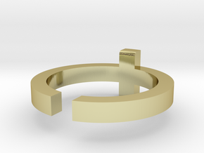 (USA) 8-1/4 Cross  - Multiple Sizes in 18K Gold Plated
