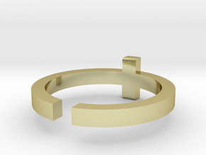 (USA) 12-3/4 Cross - Multiple Sizes in 18K Gold Plated