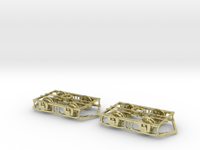 Blackpool Lancaster Bogies With Ploughs & Wheels in 18K Gold Plated