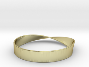 Möbius Bracelet Bangle in 18K Gold Plated
