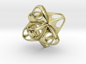 Merkaba Flatbase Round - 3.5cm in 18K Gold Plated