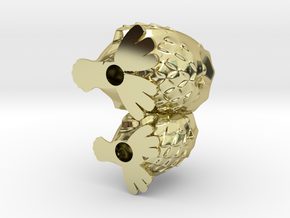 CuddlingOwls 50mm / 1.96 inches Tall in 18K Gold Plated