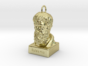 Epicurus Keychains 2 inches tall in 18K Gold Plated