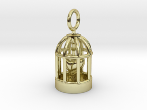 Heart Cage in 18K Gold Plated