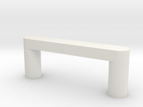 Modern Cabinet Handle in White Natural Versatile Plastic