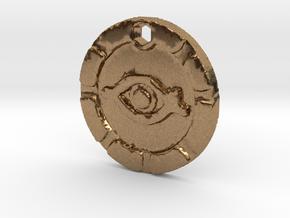 Indiana Jones Eye of Mara Necklace Replica in Natural Brass