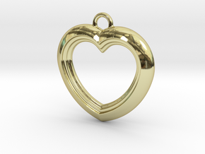 Cascading Heart Pendant in 18K Gold Plated