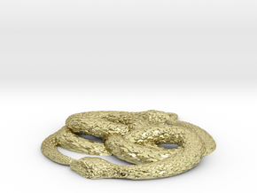 3D-Printed AURYN Medallion in 18K Gold Plated
