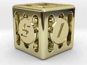 Dice - Gear Shift - D6 in 18K Gold Plated