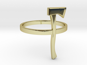 Axe Ring - Size N (6 3/4) in 18K Gold Plated