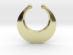 Faux Septum Ring - Crescent (small) in 18K Gold Plated