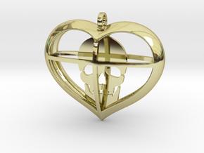 Skull Heart (1) in 18K Gold Plated