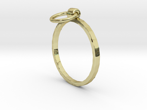 Horse Tie Ring - Sz. 7 in 18K Gold Plated
