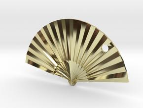 Oriental Fan in 18K Gold Plated