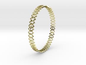 Square Bracelet in 18K Gold Plated