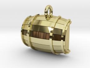 Keg / Barrel Pet Tag in 18K Gold Plated