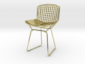 "Knoll Bertoia Side Chair 3.9"" tall in 18K Gold Plated"