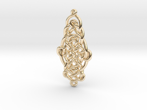 Raindrop Celtic Knot Pendant 20mm in 14k Gold Plated Brass