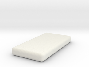 1:48 Twin Mattress in White Natural Versatile Plastic