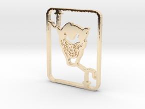 Joker in 14k Gold Plated Brass