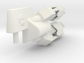 transformers Cyclone Cannon in White Natural Versatile Plastic