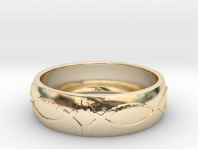 Size 7 Ring  in 14k Gold Plated Brass