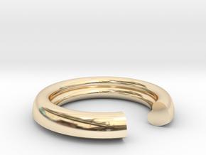 Secret Heart Ring 20 mm x 20 mm in 14k Gold Plated Brass