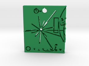Pioneer Plaque Pendant in Green Strong & Flexible Polished