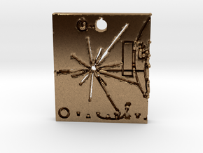 Pioneer Plaque Pendant in Natural Brass