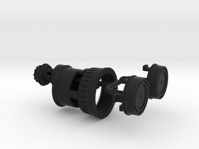 Geodimeter 600 1/4th scale knobs in Black Natural Versatile Plastic